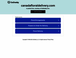 canadafloraldelivery.com screenshot