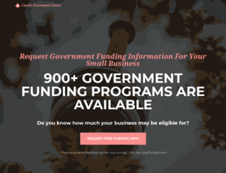 canadagovernmentgrants.org screenshot