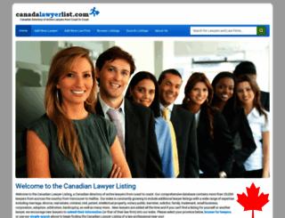 canadalawyerlist.com screenshot