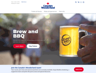 canadaswonderland.com screenshot