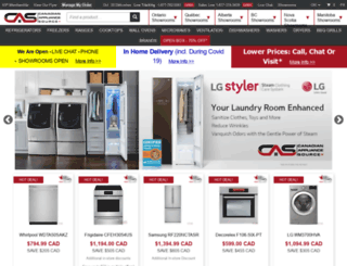 canadianappliancesource.ca screenshot