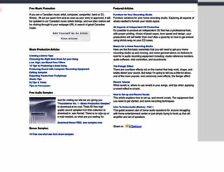 canadianmusicartists.com screenshot