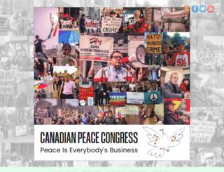 canadianpeacecongress.ca screenshot
