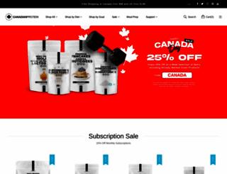 canadianprotein.com screenshot