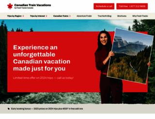 canadiantrainvacations.com screenshot