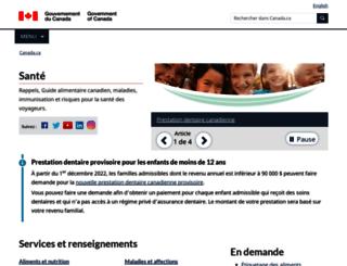 canadiensensante.gc.ca screenshot