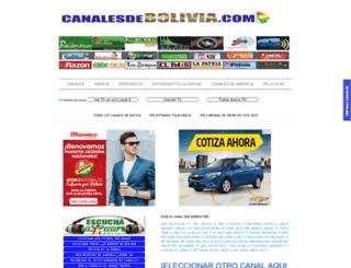 canalesdebolivia.com screenshot