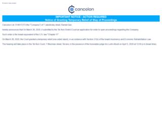 cancelon.com screenshot