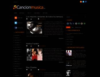 cancionmusica.blogspot.com screenshot