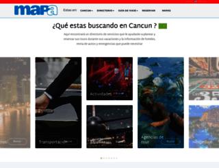 cancun-map.com screenshot
