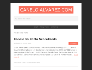 caneloalvarez.com screenshot