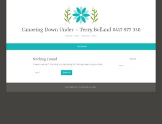 canoeingdownunder.com.au screenshot