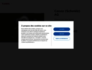 canon.ch screenshot