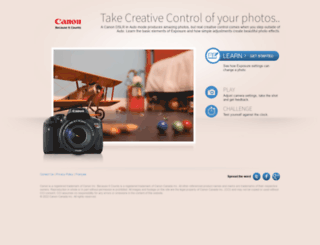 canonoutsideofauto.ca screenshot