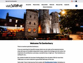 canterbury.co.uk screenshot