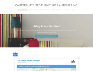 canterburyusedfurniture.com screenshot