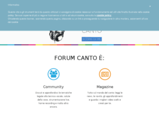 canto.forumup.it screenshot