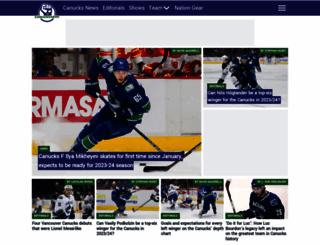 canucksarmy.com screenshot