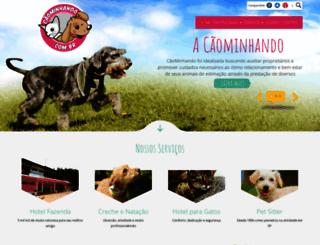 caominhando.com.br screenshot