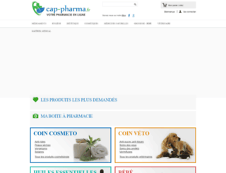 cap-pharma.fr screenshot