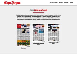 capeargus.newspaperdirect.com screenshot