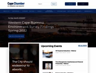 capechamber.co.za screenshot