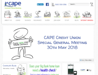 capecu.com.au screenshot