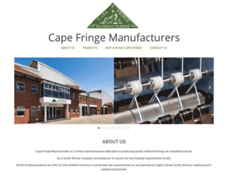 capefringe.co.za screenshot