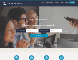 capeschool.com screenshot