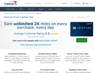 capitaloneventure.com screenshot