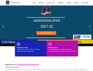 capitalschoolbahrain.com screenshot