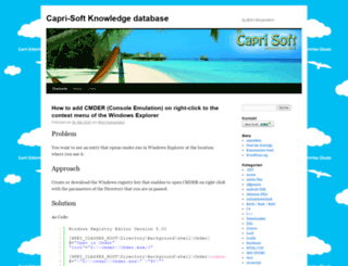 capri-soft.de screenshot