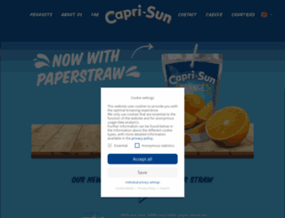 capri-sonne.com screenshot