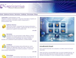 capricornius.com screenshot