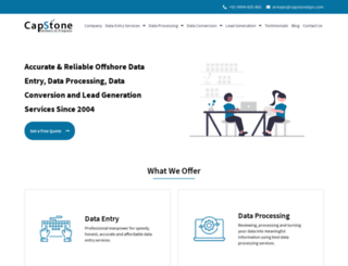 capstonebpo.com screenshot