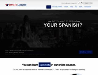 captain-language.com screenshot