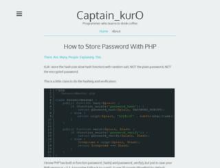 captainkuro.com screenshot
