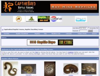 captivebredreptileforums.co.uk screenshot