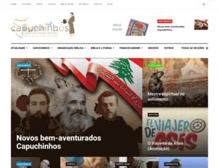 capuchinhos.org screenshot