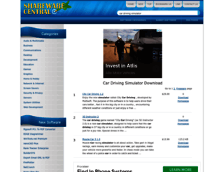 car-driving-simulator.sharewarecentral.com screenshot
