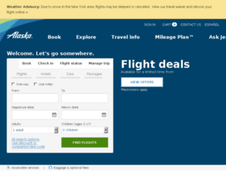 car-hotel.alaskaair.com screenshot