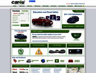 car4u.com.pk screenshot