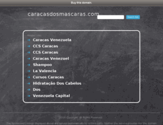 caracasdosmascaras.com screenshot