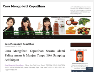 caramengobatikeputihan99.wordpress.com screenshot