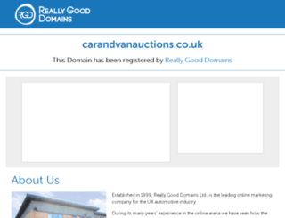 carandvanauctions.co.uk screenshot