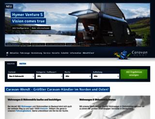 caravan-wendt.de screenshot