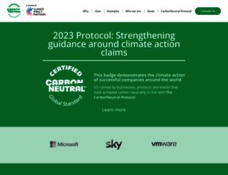 carbonneutral.com screenshot