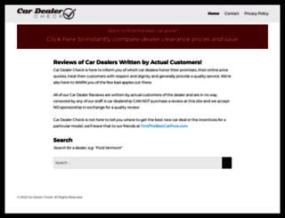 cardealercheck.com screenshot