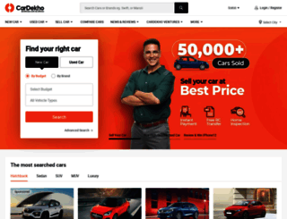 cardekho.com screenshot