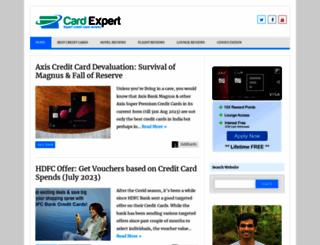 cardexpert.in screenshot